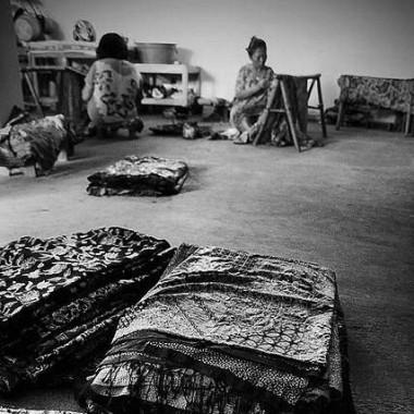 ilustrasi pengusaha batik laweyan