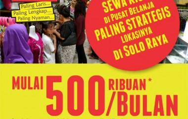 PROMO 500 RIBUAN PER BULAN SUDAH BISA SEWA KIOS DI PGS_
